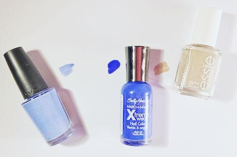 Blue waves nail art polishes
