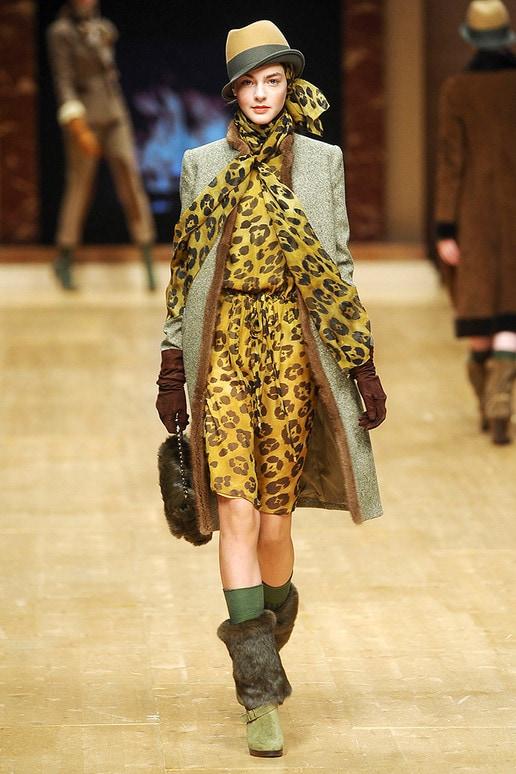 Blugirl yellow leopard print dress