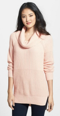 Blush pink cowl neck sweater