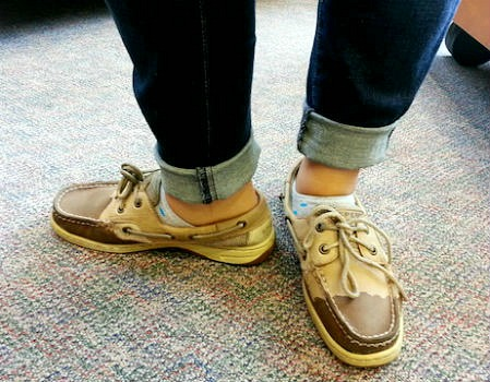 Boat shoes college style trend