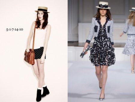Topshop Boater Hat and Oscar de la Renta Boater Hat
