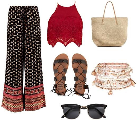 Boho trousers outfit
