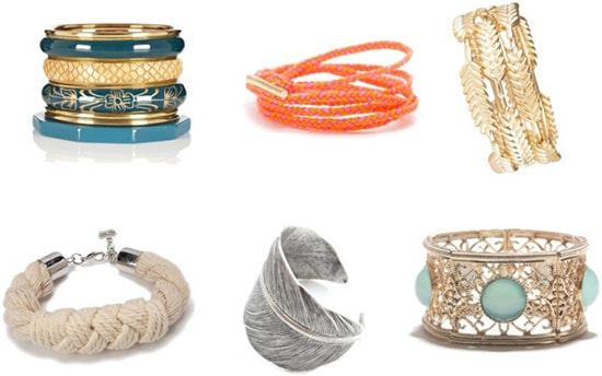 Bold bracelets