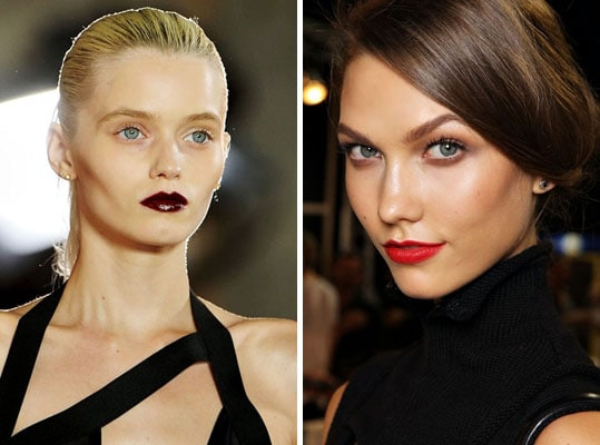 Bold lips at Christian Dior and Anthony Vaccarello Spring/Summer 2012