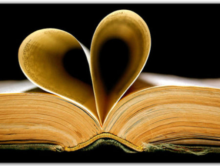 Book with heart shaped pages