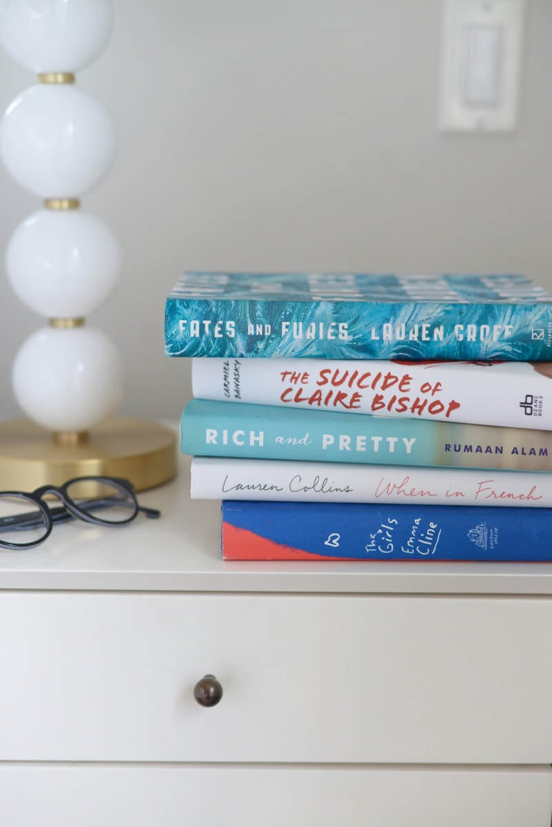 Stack of books from Cupcakes and Cashmere