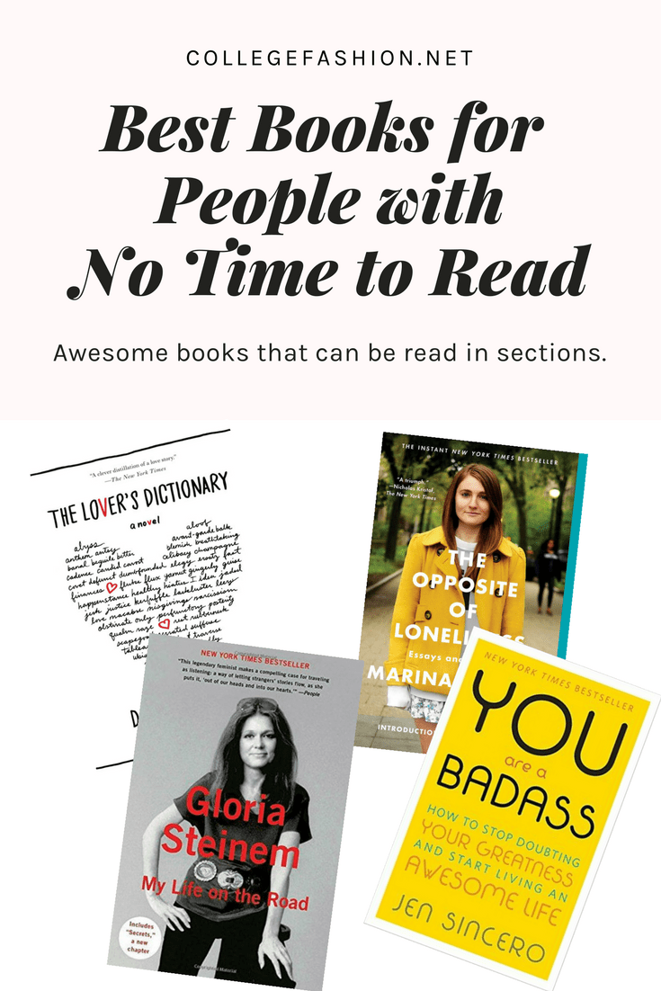 Best books for busy people with no time to read -- great book recommendations that can be read in spurts and sections