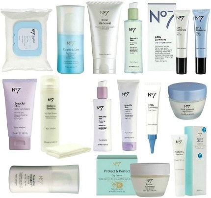 Boots No 7 products