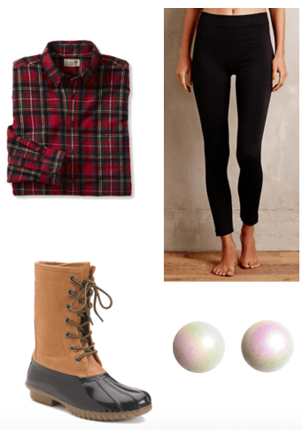 Duck boot look outfit