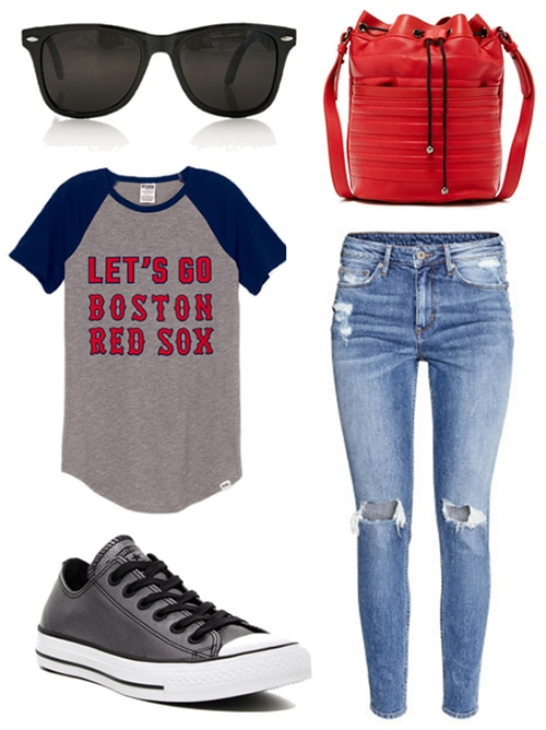 Outfit to wear to Fenway Park to see a Boston Red Sox game