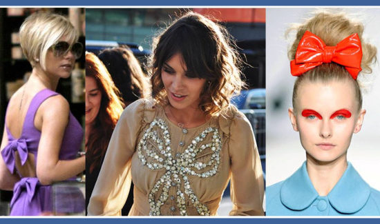 celebrities in bows