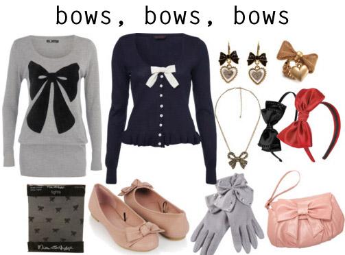 Holiday fashion trend: bows, bows, bows