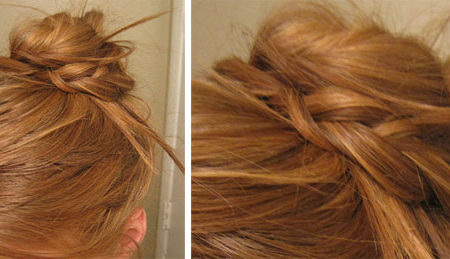 Braided bun/updo