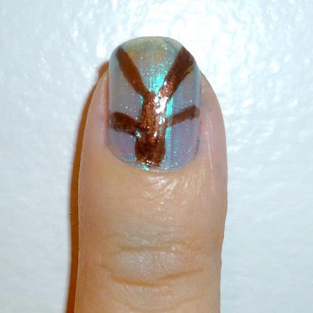 Foliage nails - middle nail branches