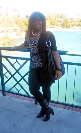 Breana, a college fashionista from Georgia Southern University