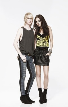 Brian Lichtenberg with one of his Forever 21 designs