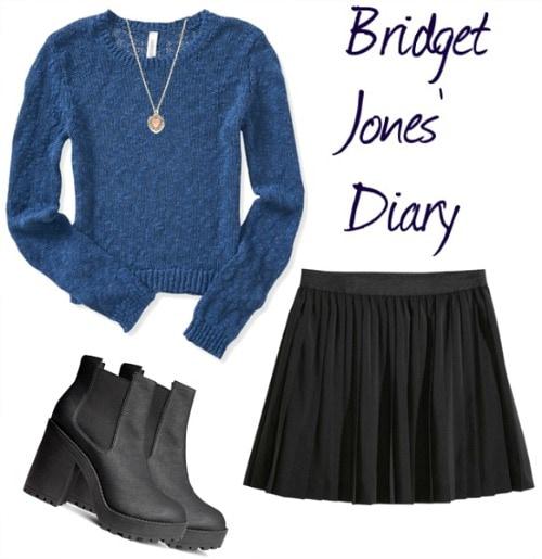 Bridget Jones Diary inspired look