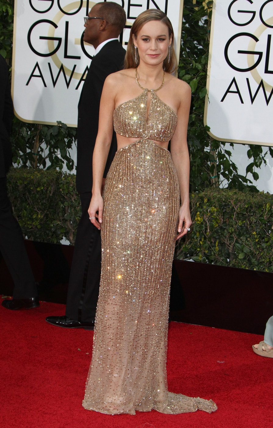 Brie Larson at the 2016 Golden Globes