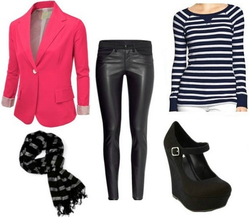Bright blazer outfit