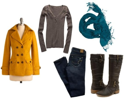Bright Coat Outfit