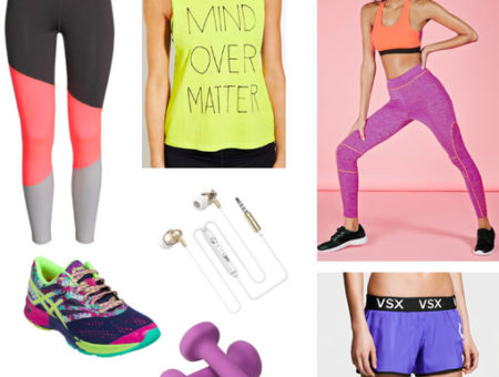 Iridescent colors and prints - fitness fashion trends for 2016