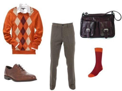Brightly colored outfit for guys inspired by Chuck Bass