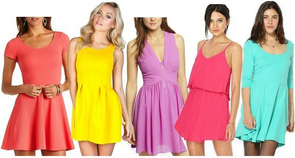 Bright dresses under $50
