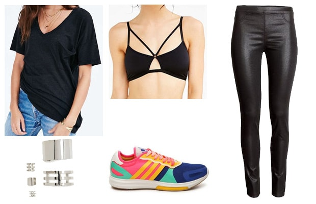 Bright sneakers black street outfit