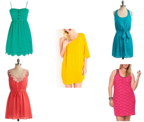 Bright summer dresses under