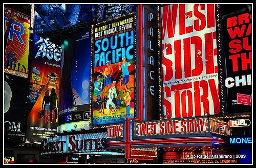 Broadway advertisements in NYC