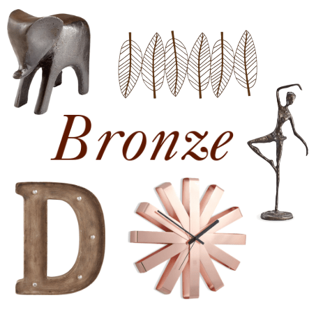 bronze dorm decor