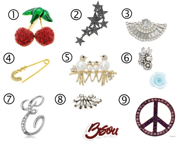9 brooches under $35