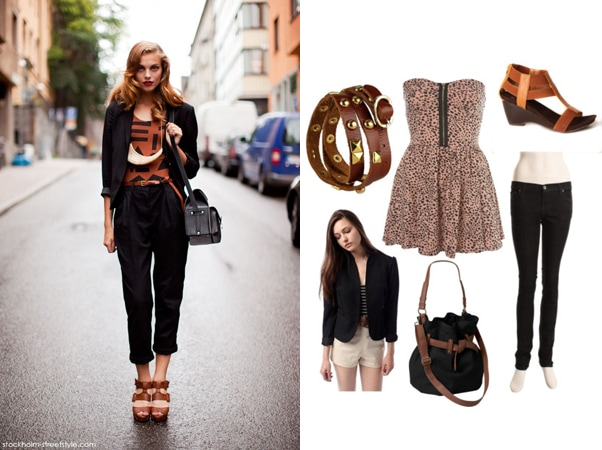 brown street style outfit