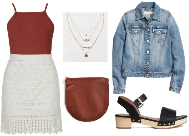 Brunch Skirt Outfit #1