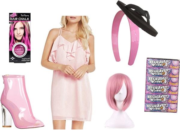 Bubble gum costume: Easy last minute Halloween costume ideas