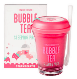 Photo including a bubble tea sleeping mask.
