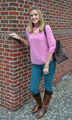 Student street fashion at Bucknell University