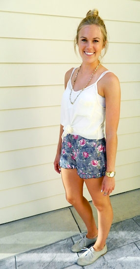 Summer fashion on a college student fashionista at Bucknell University