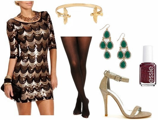 Budget friendly holiday party outfit