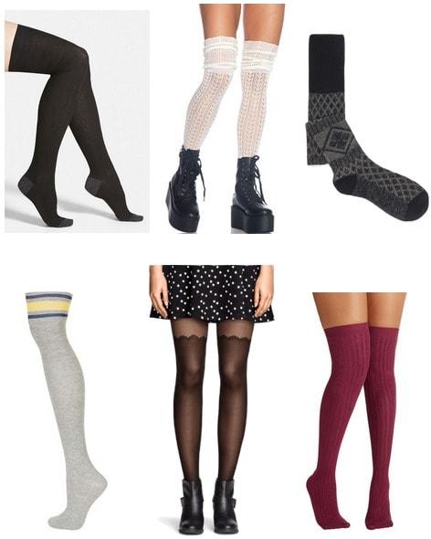 inexpensive over the knee socks