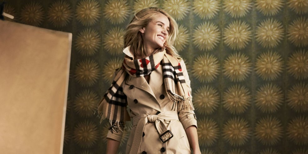 Burberry campaign photo with Rosie Huntington Whiteley