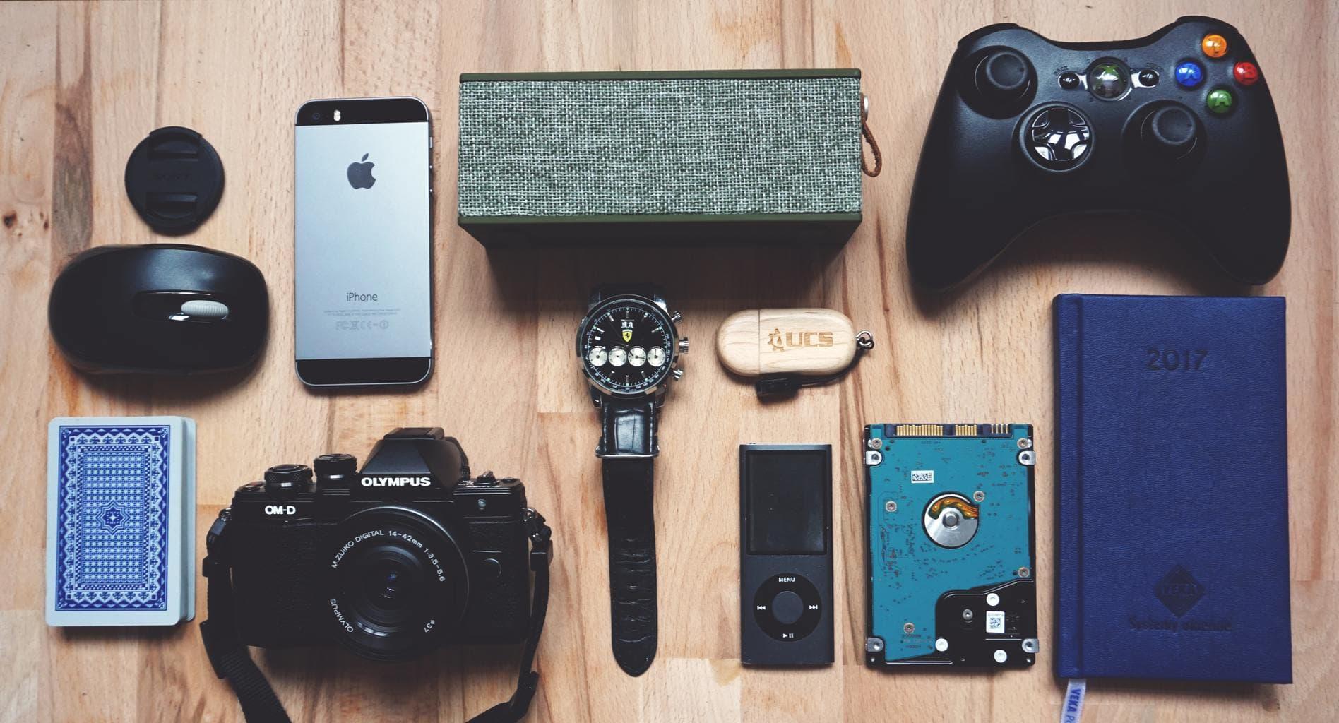 Electronics-layout-stock-photo