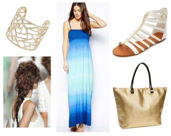 Butter London lolly brights blue maxi dress