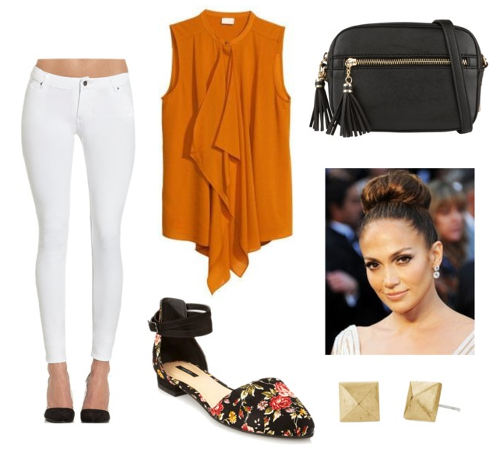 Butter London lolly brights orange blouse