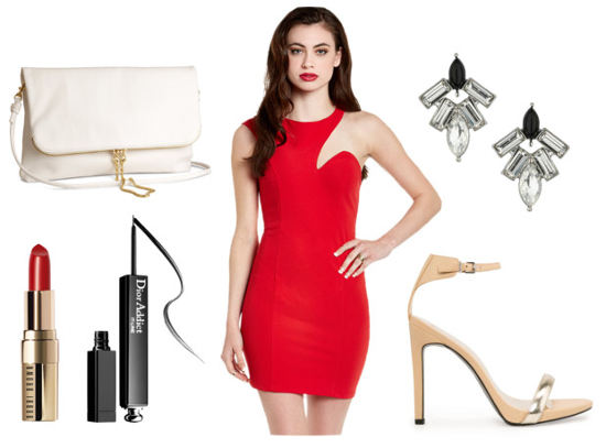 Butter London lolly brights red cutout dress