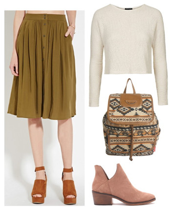 151a846f4 Fabulous Find of the Week: Forever 21 Buttoned Midi Skirt - College ...