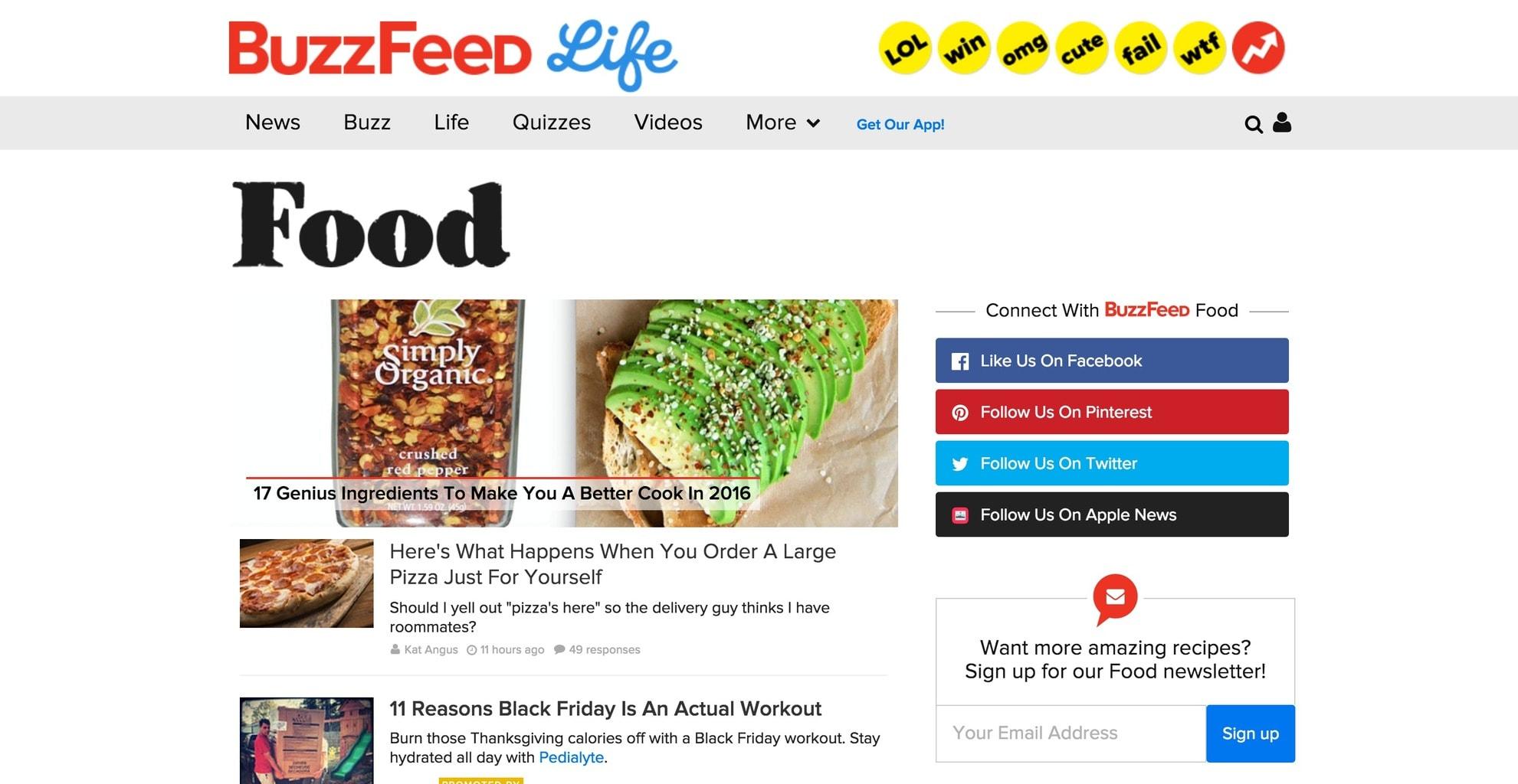 Buzzfeed Food screenshot