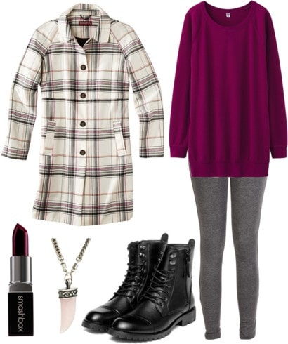 Fab Find: Target Plaid Coat - Laid-Back Meets Edgy
