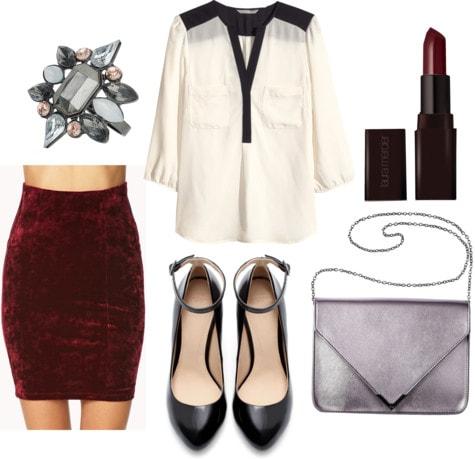 Fab Find: Forever 21 Velvet Skirt - Fancy & Festive