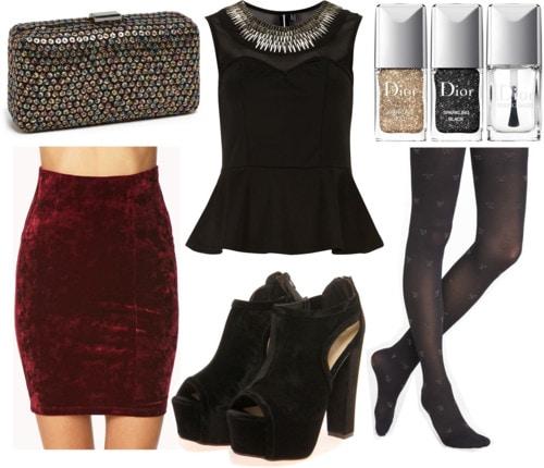 Fab Find: Forever 21 Velvet Skirt - New Year's Glam